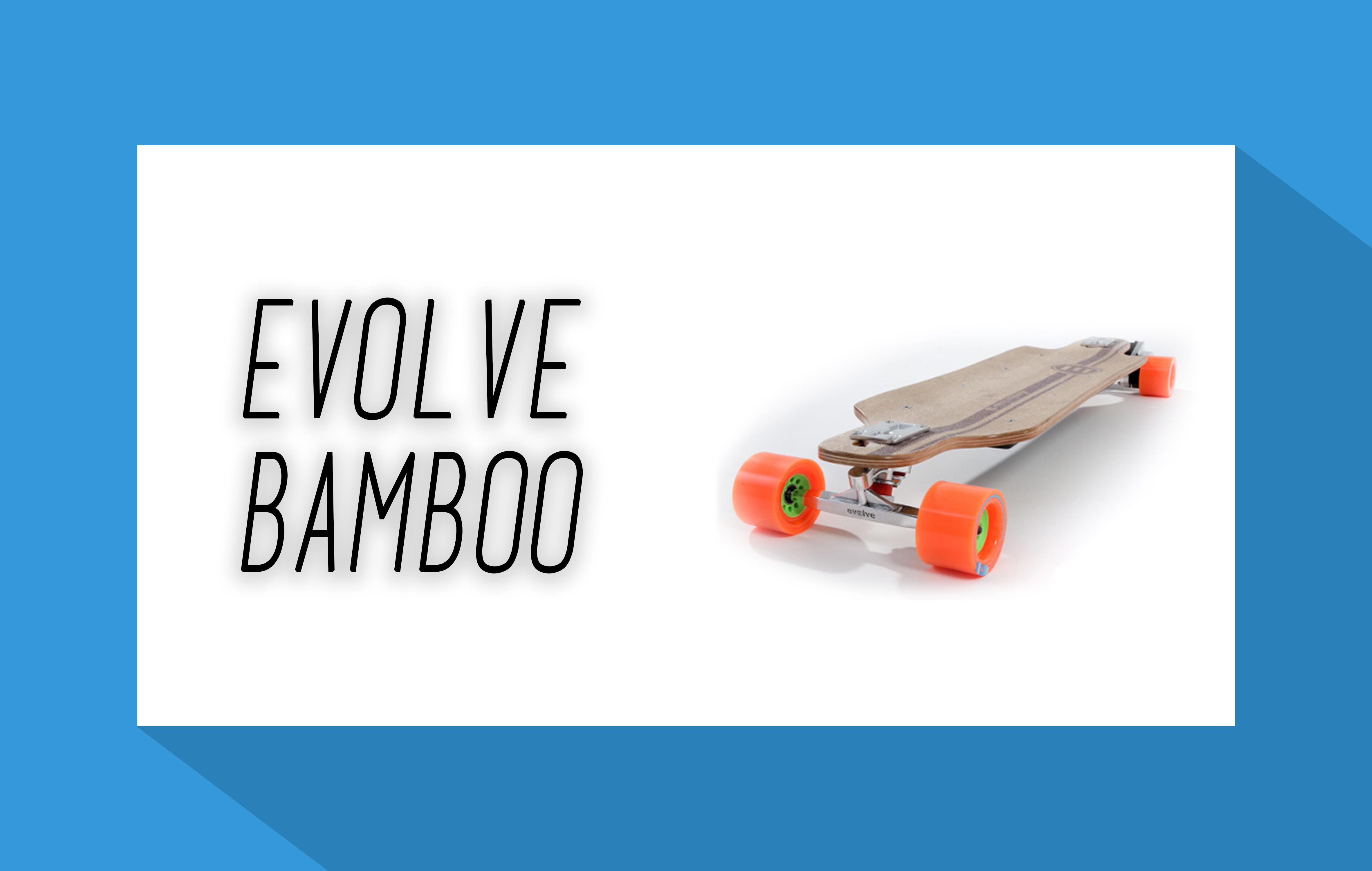 evolve bamboo elektro skateboard. Black Bedroom Furniture Sets. Home Design Ideas